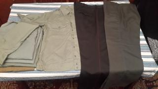 Cuts. Cloaks. Jackets. Shirt. Pants. Caps