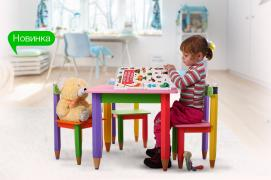 Дитячий столик без пенала 60см на 40см Олівці